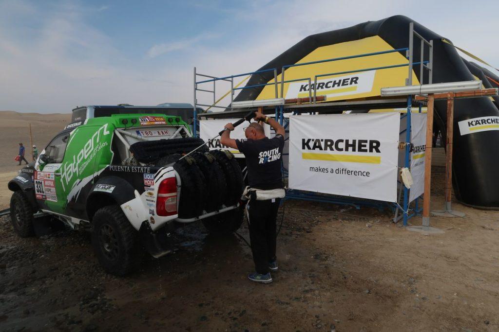 Dakar 2018_cistici stanice Kärcher cisteni aut 3m