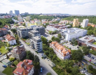 Kunratický les blízko nové rezidence v Michli